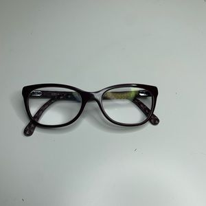 Chanel 3228Q Burgundy CC Quilting Frames Glasses